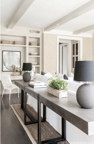 Console table - how to practice mindfulness through interior design