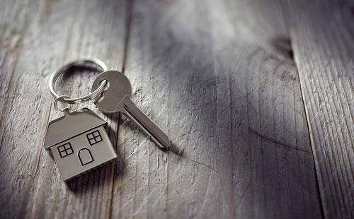 Keys with home keyring